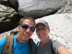 Us at the glacier